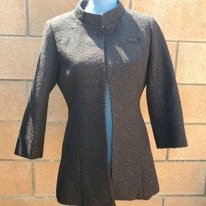 Authentic CHANEL vintage black Employee Tweed and Sequin Coat